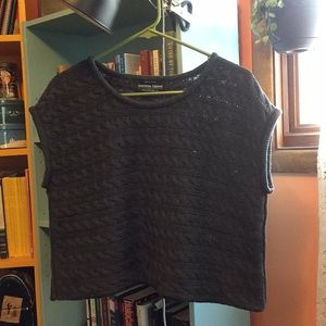 American Apparel short-sleeve cropped sweater